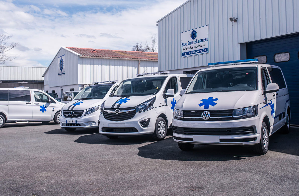 entreprise française, aménagement ambulance